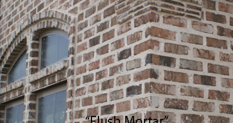 Flush joint for Brick types and styles